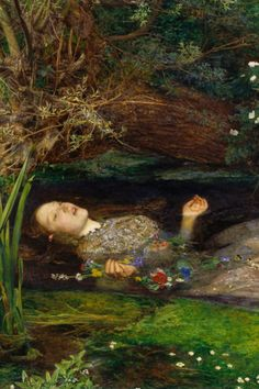 detail of Ophelia by John Everett Milla