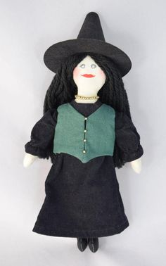 Halloween Witch Doll  Toy Doll  Art Doll  by JoellesDolls on Etsy