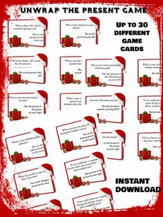Unwrap the present Game Holiday Game Christmas Party Game Christmas Gift Games, Holiday Party Games, Christmas Brunch, Birthday Party Games, A Christmas Story, Christmas Humor, Christmas Holidays, Christmas Ideas, Xmas
