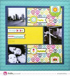 Tutorial de scrapbooking: layout hecho con materiales de Anita y su mundo