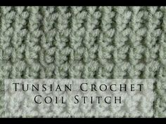 Tunisian Crochet Coil Stitch