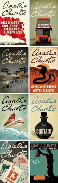 Agatha Christie book covers