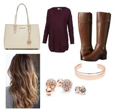 """Untitled #8"" by queen-angieee ❤ liked on Polyvore featuring Bandolino, MICHAEL Michael Kors, GUESS and Leith"