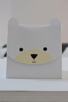 Polar Bear Treat Box/Gift Box by birddoodle on Etsy, $5.00