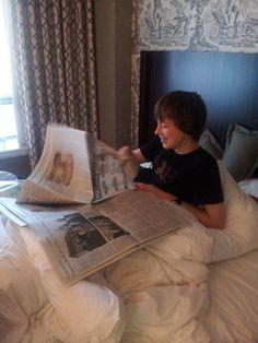 Reading the Washington Post in Washington