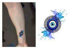 Eye evil greece 21 ideas for 2019 Body Art Tattoos, Small Tattoos, Cool Tattoos, Greek Evil Eye Tattoo, Meaningful Symbol Tattoos, Eye Logo, Tattoo Sketches, Sketch Ink, Future Tattoos