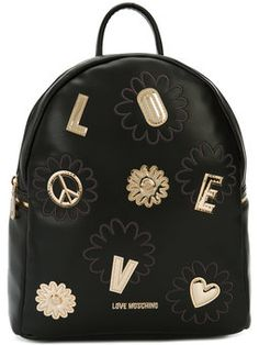 golden patch backpack