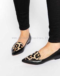 Dune - Austine - Chaussures pointues plates en cuir effet poney à motif léopard - Chaussures plates Pinterest Pin Plus 88274 - Cliquez sur l'image pour la fermer