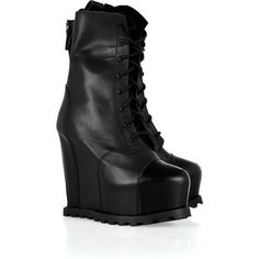 Acne Avalanche platform wedge boots