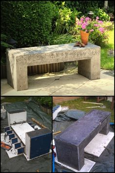 Add seating to your yard that will last for years by building this concrete garden bench!