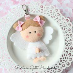 Barbara Handmade...: Filcowy aniołek / Felt angel