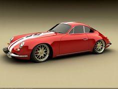 Porsche Panamera 1965 Design Concept by Bo Zolland - Red Side Angle - - Wallpaper Porsche Panamera, Ferdinand Porsche, Porsche Modelos, Porsche Replica, Volkswagen, Automobile, Vintage Porsche, Porsche Cars, Automotive Design