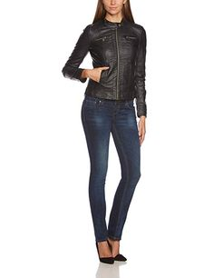 Cazadora biker mujer only