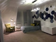 Teenager room with favourite colours by #ArchiDekor