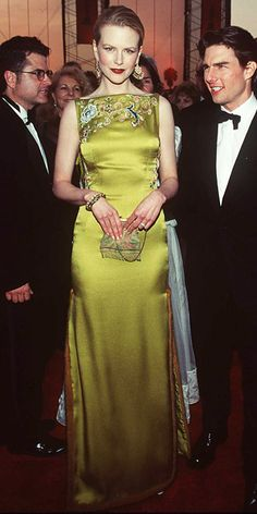 NICOLE KIDMAN, 1997 Nicole Kidman made history with her daring chinoiserie gown from Christian Dior