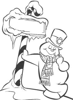 Frosty Snowman Coloring For Kids - Frosty Coloring Pages : KidsDrawing – Free Coloring Pages Online Merry Christmas Coloring Pages, Snowman Coloring Pages, Coloring Book Art, Colouring Pages, Coloring For Kids, Adult Coloring Pages, Free Coloring, Christmas Colors, Christmas Art