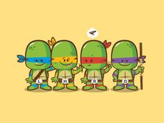 Lil Bffs - Teenage Mutant Ninja Turtles by Dennis Salvatier
