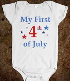 my first 4th of july baby onsie