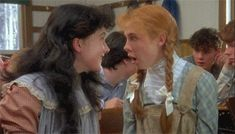 Anne and Diana laughing. I always love how Gilbert would sneak scandalously quick glances at Anne. So cute!