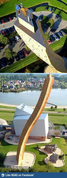 Excalibur: The World's Tallest Climbing Wall-- never ever ever would I want to