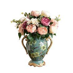 C6 florero Decorativo Moderno para la Sala de Estar como Regalo Floreros de cer/ámica