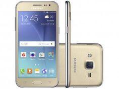 """Smartphone Samsung Galaxy J2 TV Duos 8GB Dourado - Dual Chip 4G Câm 5MP Tela 4.7"""" qHD Proc. Quad Core"""