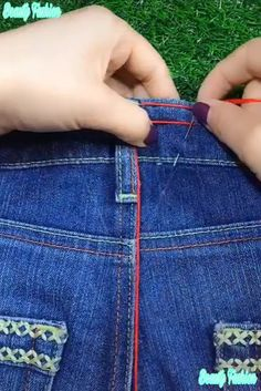 100 Brilliant Projects to Upcycle Leftover Fabric Scraps - Contations Sewing Jeans, Sewing Clothes, Diy Clothes, Sewing Hacks, Sewing Tutorials, Sewing Crafts, Sewing Tips, Techniques Couture, Sewing Techniques