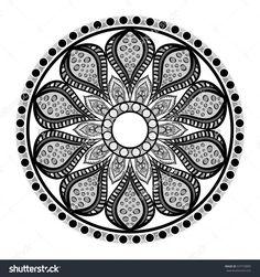 Mandala oriental symbol icon vector illustration graphic design