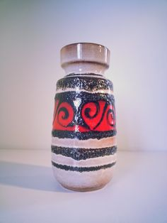 Mid Century West German Pottery Fat Lava Retro Vintage Scheurich Vase.. made in West Germany.. Mid Century Modern Home Deco.. by fcollectables on Etsy