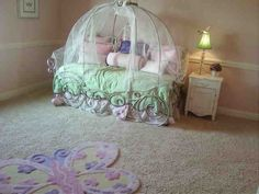 Cinderella Carriage Bed by on DeviantArt Cinderella Carriage Bed, Cinderella Bed, Girl Bedroom Designs, Girls Bedroom, Bedroom Ideas, Bed Frame Parts, Toddler Bed Sheets, Teen Girl Bedding, Disney Bedding