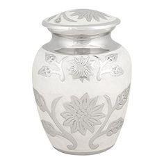 Perfect Memorials Small Pearl Blossom Brass Cremation Urn...