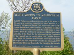 Some History of the Manitoulin Island Ontario