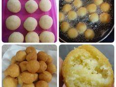 Τυρομπαλίτσες Υλικά •300γρ τριμμένο τυρί γκούντα •4 κουτ.σούπας παρμεζάνα τριμμένη •1 κουτ.σούπας μπέικιν πάουντερ 4 κουτ.σούπας αλεύρι που φουσκώνει μόνο του •2 αυγά Εκτέλεση Ανακατεύουμε με τα χέρια καλά όλα τα υλικά. Βάζουμε το μείγμα στο ψυγείο για 30' Κάνουμε μικρές μπαλίτσες και τηγανίζουμε. Περίπου 25