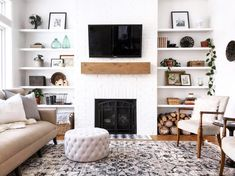 I Love This Super Simple Fireplace Mantle And Shelves