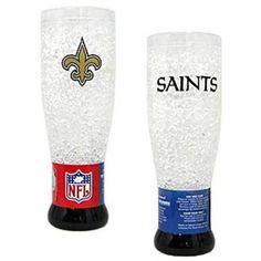 New Orleans Saints NFL Crystal Pilsner Glass