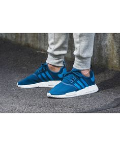 newest 644c2 634ae Adidas NMD R1 Tech Steel In Blue White UK Adidas Nmd R1, Adidas Sneakers,