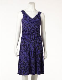 CLEO Swirl Print Dress - Any suggestions for jewellery or shoes to go with this dress ???  http://www.cleo.ca/clearance/swirl-print-tummy-control-dress-petite-only-/prod22508943ICA.html?previousCat=finalclearance