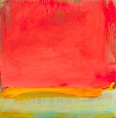 "Daybreak Acrylic on Linen 36"" x 36"" by Rachel Volpone"