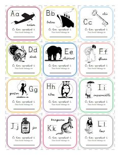 One Dog Woof: French Alphabet Bookplates Printable