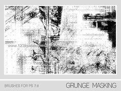 Grunge Masking - Download  Photoshop brush https://www.123freebrushes.com/grunge-masking-3/ , Published in #GrungeSplatter. More Free Grunge & Splatter Brushes, http://www.123freebrushes.com/free-brushes/grunge-splatter/ | #123freebrushes