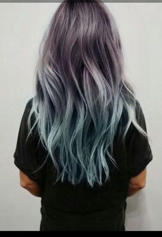 Balayage and Ombre are everyone's favorite. Add in the pastel hair colors. and you have delicate and beautiful hair mixes. Ombre Hair Color, Purple Hair, Hair Colors, Blue Ombre, Turquoise Hair, Gray Hair, Pastel Purple, Purple Dye, Teal Orange