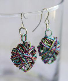 heart shape wire earrings