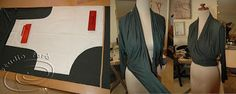 The original one-piece pattern for vintage style. Pattern Puzzle - RETRO WRAP  #PatternMakingClasses #Sydney #Sewing