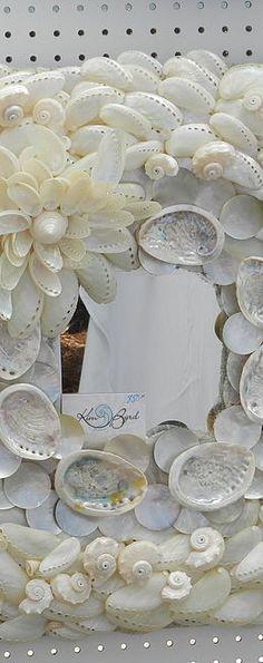 Seashell Mirrors for interior design. Beach Homes and Condos
