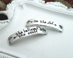 Shoe tags, hand stamped shoe tag, personalized running tag