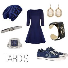 Tardis inspired outfit; Not to sure who Tardis is...But I LOVE the outfit!!!! #Nerd
