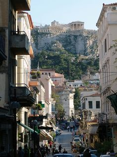 Athens, Greece We just opened our rooms door and we could see the Acropolis. At night I could not believe we were there. Magic. Nicest people.