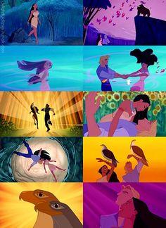 Pocahontas and John Smith another one of my favorite couples Pocahontas Colors Of The Wind, Pocahontas Movie, Disney Pixar, Walt Disney, Disney Characters, Pocahontas And John Smith, Disney Couples, Disney Addict, Dreamworks