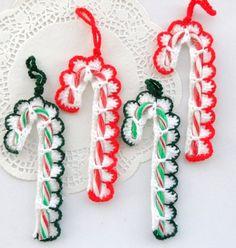 crochet christmas | Crochet Christmas Tree Decorations Holiday by ... | Crochet cozy
