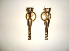 Brass wall candle holders by DimitrijNigodoff on Etsy, $45.00